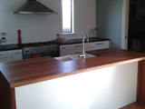 Eucalyptus Laminated Waterfall Kitchen Bench