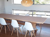 Macrocarpa Laminated Slab Tabletop
